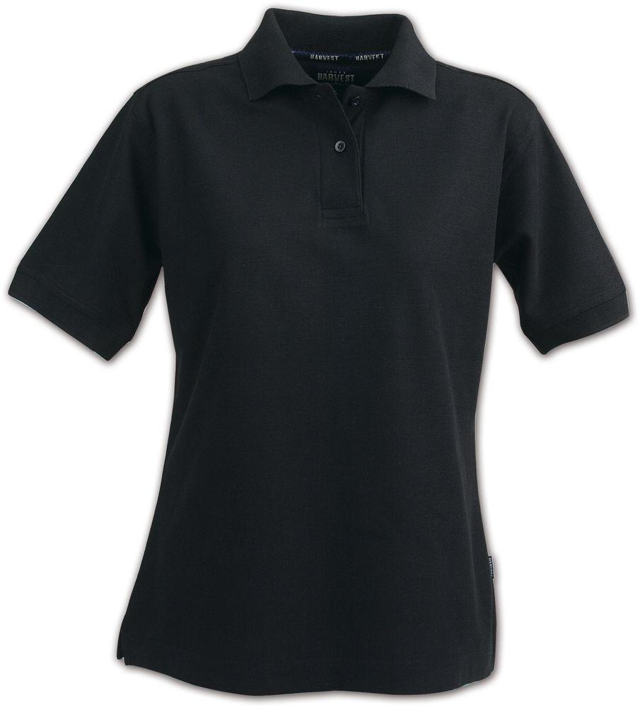 Рубашка поло женская SEMORA, черная, размер L рубашка поло женская semora красная размер xl