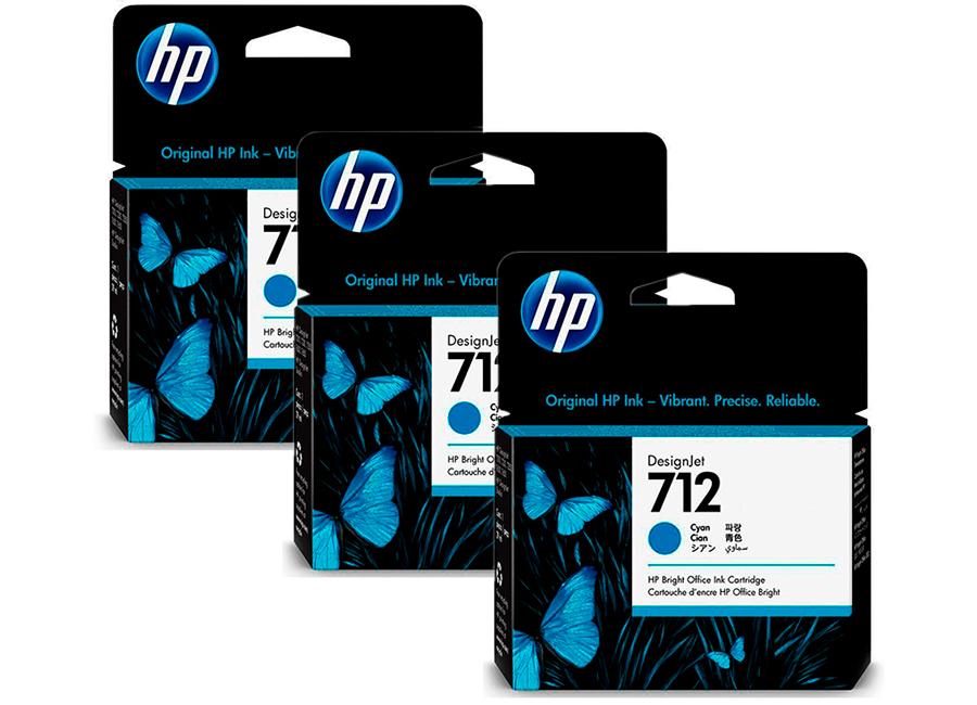 Фото - Набор картриджей HP DesignJet 712 Cyan 3x29 мл (3ED77A) набор картриджей hp c5095a