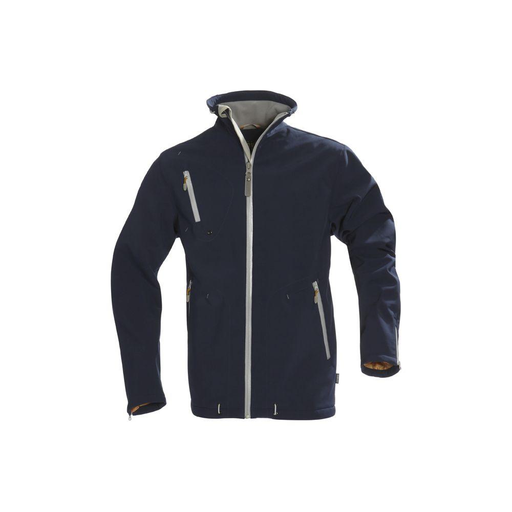 Куртка софтшелл мужская SNYDER, темно-синяя, размер XXL куртка софтшелл мужская snyder белая размер s