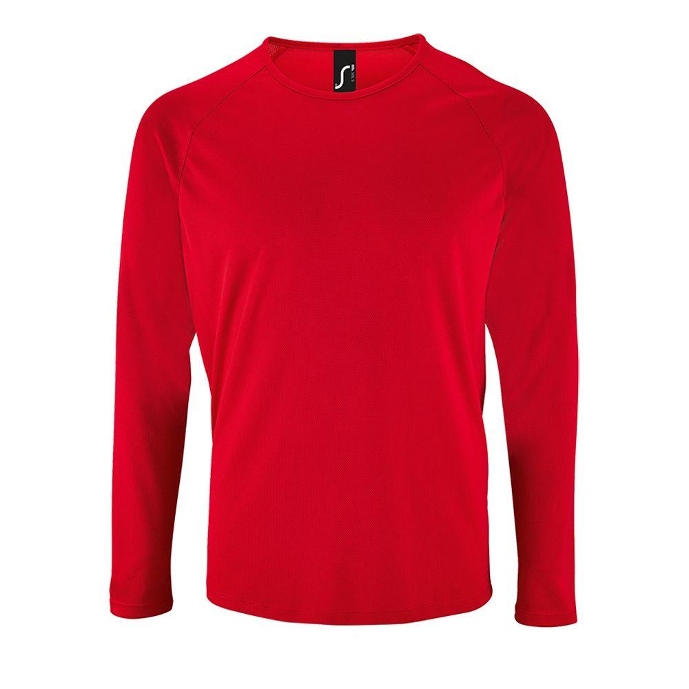 Футболка с длинным рукавом SPORTY LSL MEN красная, размер 3XL