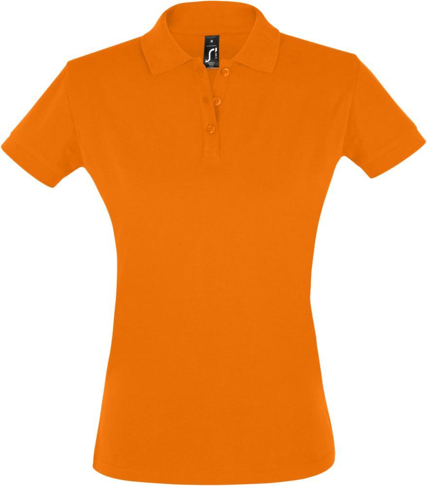 Рубашка поло женская PERFECT WOMEN 180 оранжевая, размер M