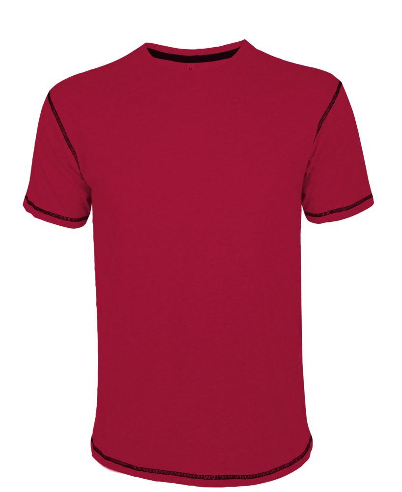 Футболка мужская с контрастной отделкой MUSTANG 150, красный/черный, размер S футболка mustang 1005438 2020