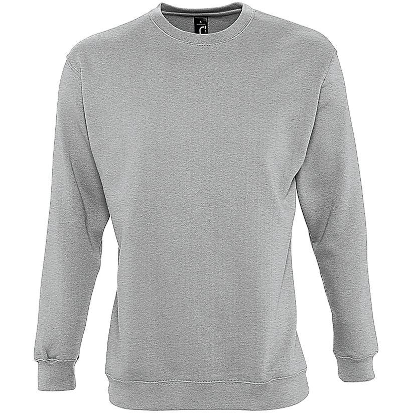 Толстовка SUPREME 280 серый меланж, размер M юбка sela цвет серый меланж skk 118 887 7413 размер m 46