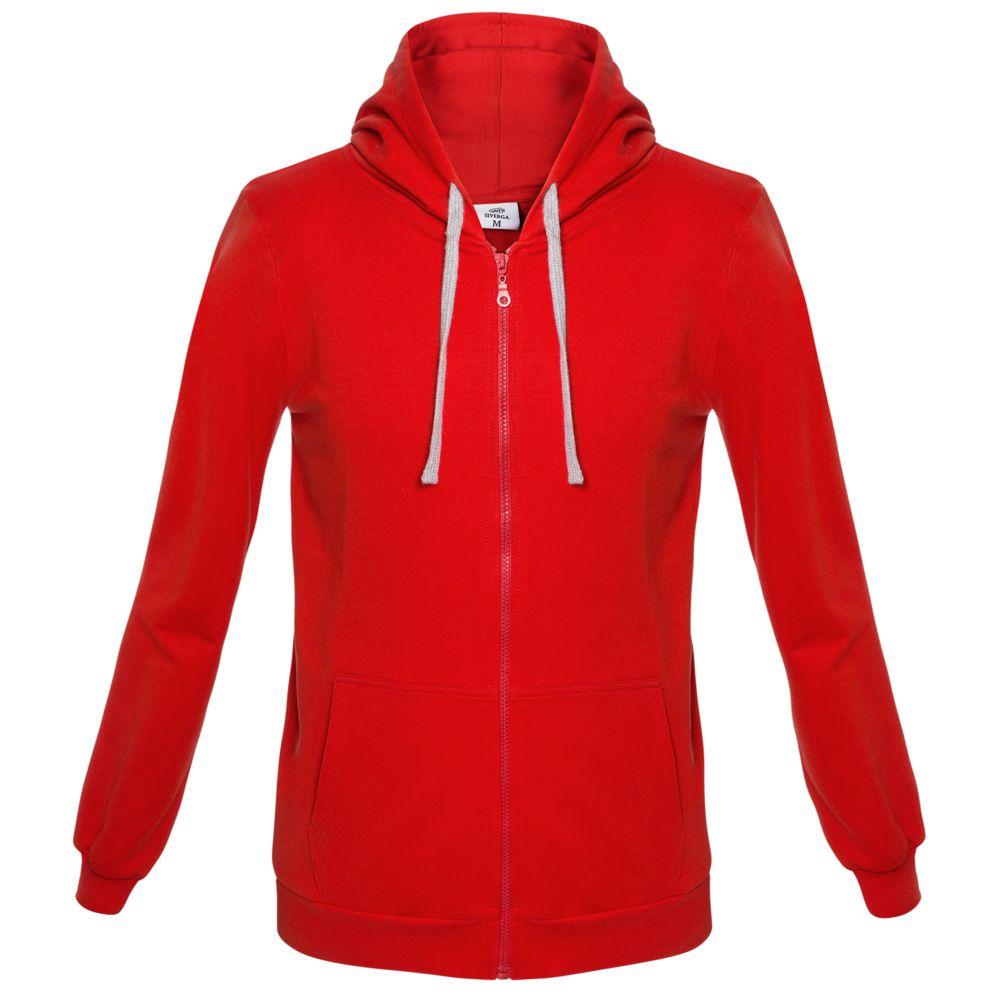 Толстовка на молнии с капюшоном Unit Siverga красная, размер 3XL фото