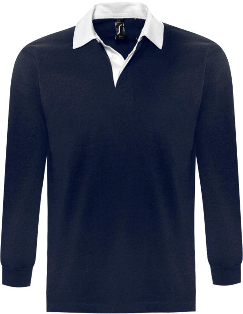 Рубашка поло мужская с длинным рукавом PACK 280 темно-синяя, размер S