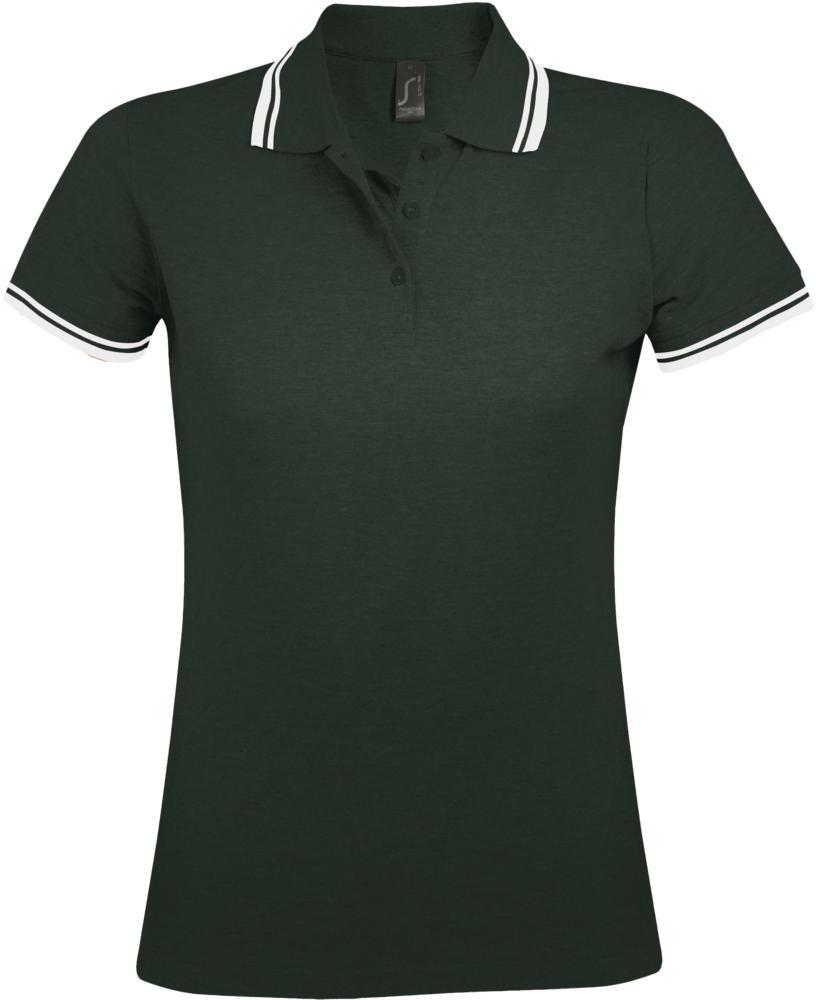 Фото - Рубашка поло женская PASADENA WOMEN 200 с контрастной отделкой зеленая с белым, размер XXL рубашка поло женская pasadena women 200 с контрастной отделкой черный зеленый размер xxl