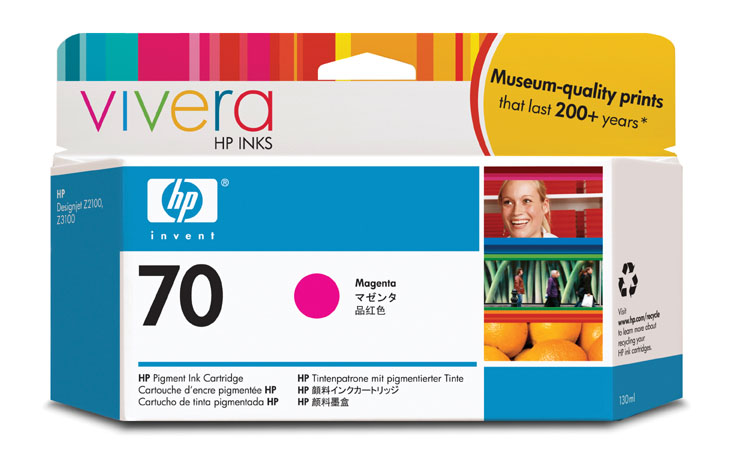 HP Vivera 70 Magenta 130 мл (C9453A) philips hp 6342