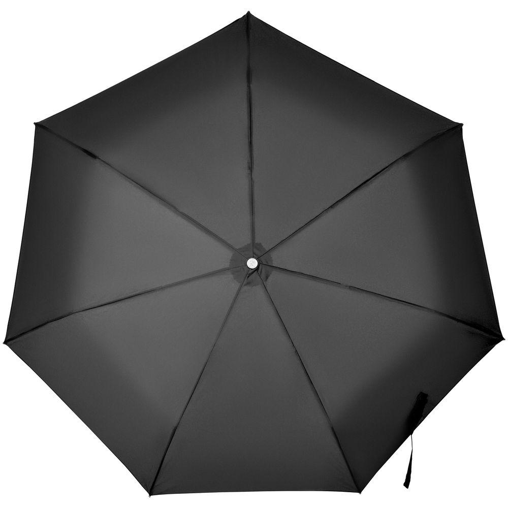 Складной зонт Alu Drop S, 3 сложения, 7 спиц, автомат, черный