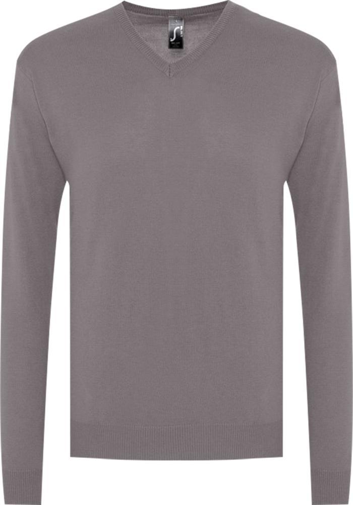 цена Свитер мужской GALAXY MEN серый, размер 3XL онлайн в 2017 году