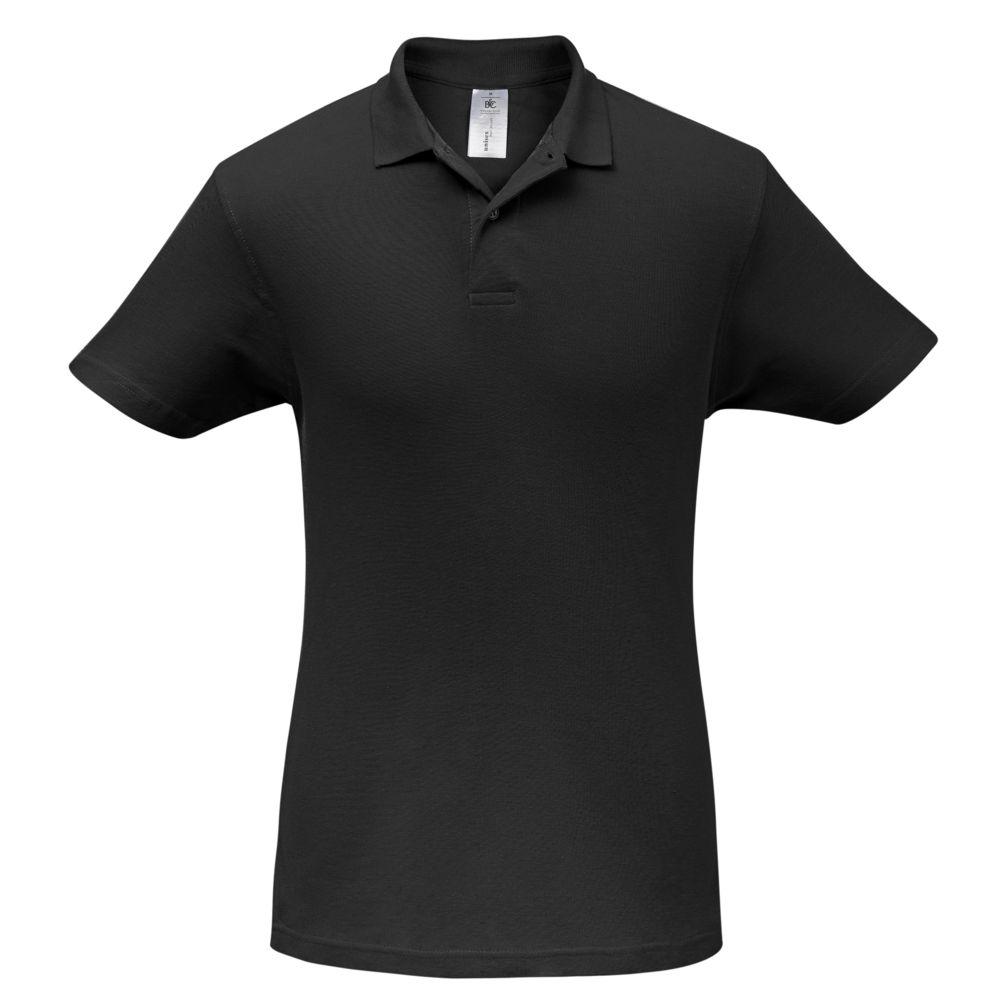 цена Рубашка поло ID.001 черная, размер M онлайн в 2017 году