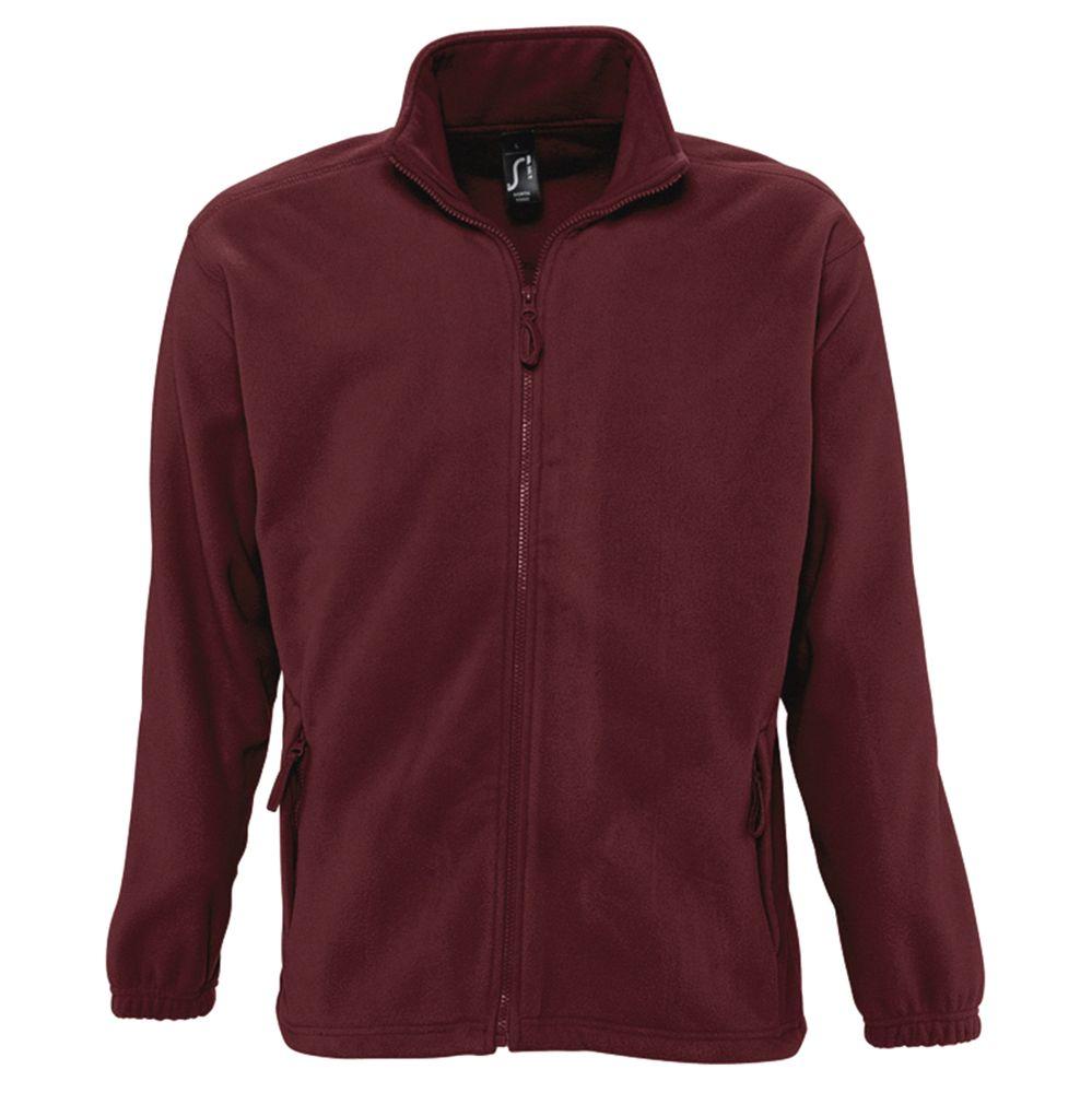Куртка мужская North бордовая, размер M