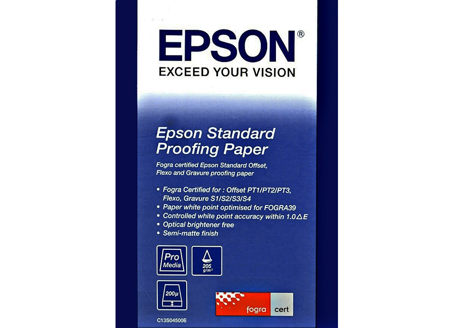 Epson Standard Proofing Paper A2, 205 г/м2, 50 листов (C13S045006) proofing paper commercial 17 432мм х 30 5м 195 г м2 c13s042145