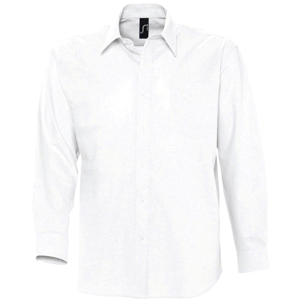 Рубашка мужская с длинным рукавом BOSTON белая, размер M