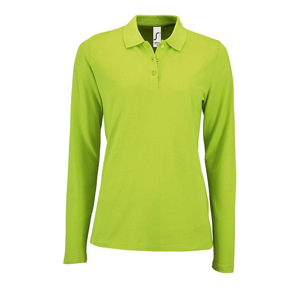 Рубашка поло женская с длинным рукавом PERFECT LSL WOMEN зеленое яблоко, размер M рубашка поло мужская с длинным рукавом perfect lsl men зеленое яблоко размер s