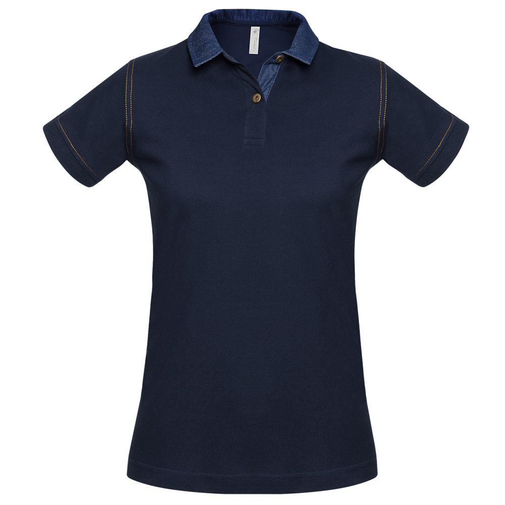 Рубашка поло женская DNM Forward темно-синяя, размер M рубашка поло женская dnm forward серый меланж размер m