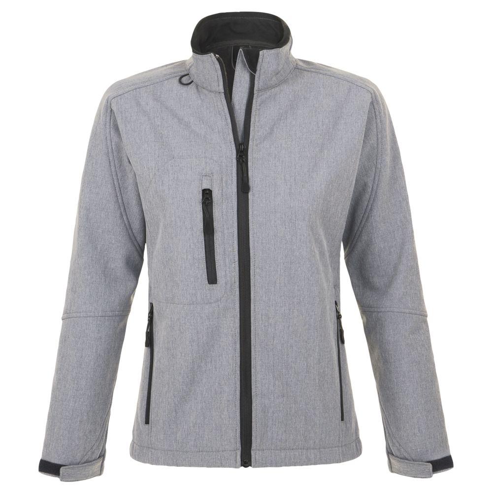 Куртка женская на молнии ROXY 340, серый меланж, размер S