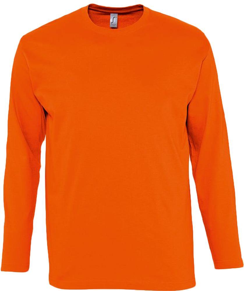 Футболка мужская с длинным рукавом MONARCH 150 оранжевая, размер S