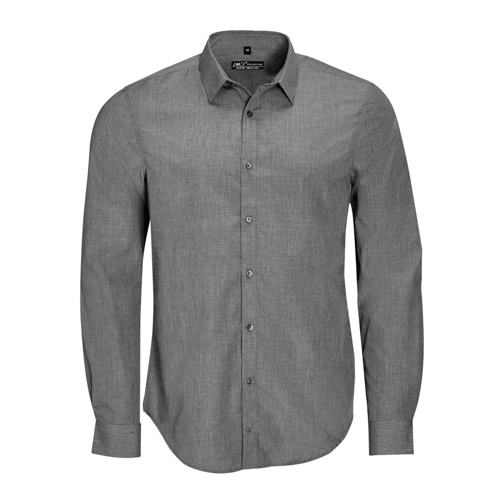 Рубашка BARNET MEN серый меланж, размер 3XL