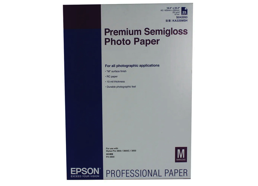Фото - Epson Premium Semigloss Photo Paper A2, 260 г/м2, 25 листов (C13S042093) printio плакат a2 42×59 ленивец медитирует