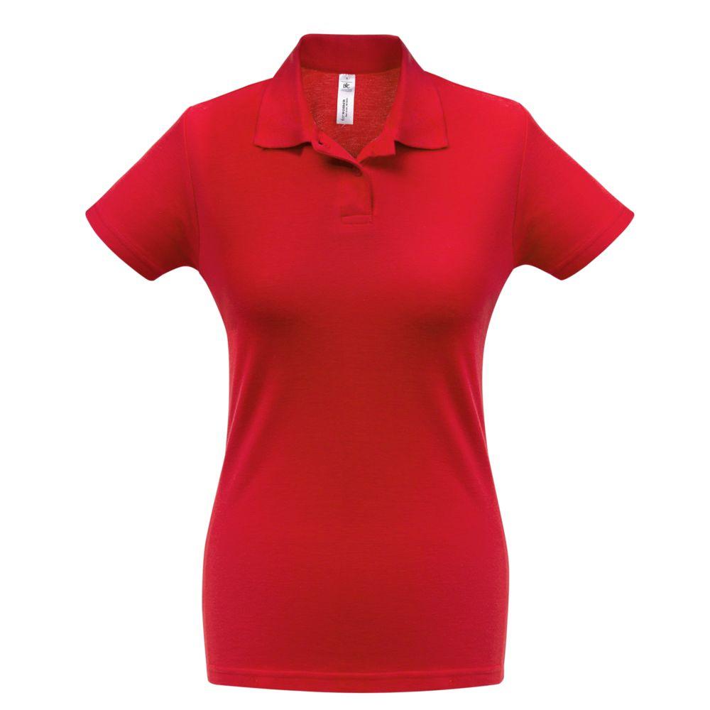 Рубашка поло женская ID.001 красная, размер XS фото
