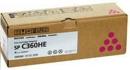 Принт-картридж Ricoh SP C360HE малиновый принт картридж spc250e малиновый 407545
