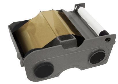 Фото - Картридж с лентой и чистящим валиком золотой металлик Fargo 45130 картридж с лентой и чистящим валиком полноцветная лента ymcko 45100