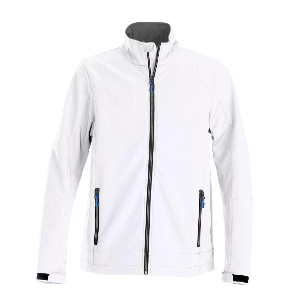 Куртка софтшелл мужская TRIAL белая, размер S фото