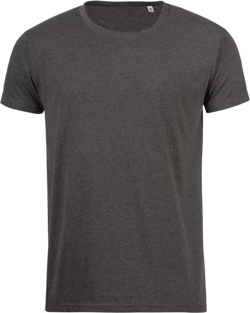 Футболка мужская MIXED MEN темно-серый меланж, размер XXL