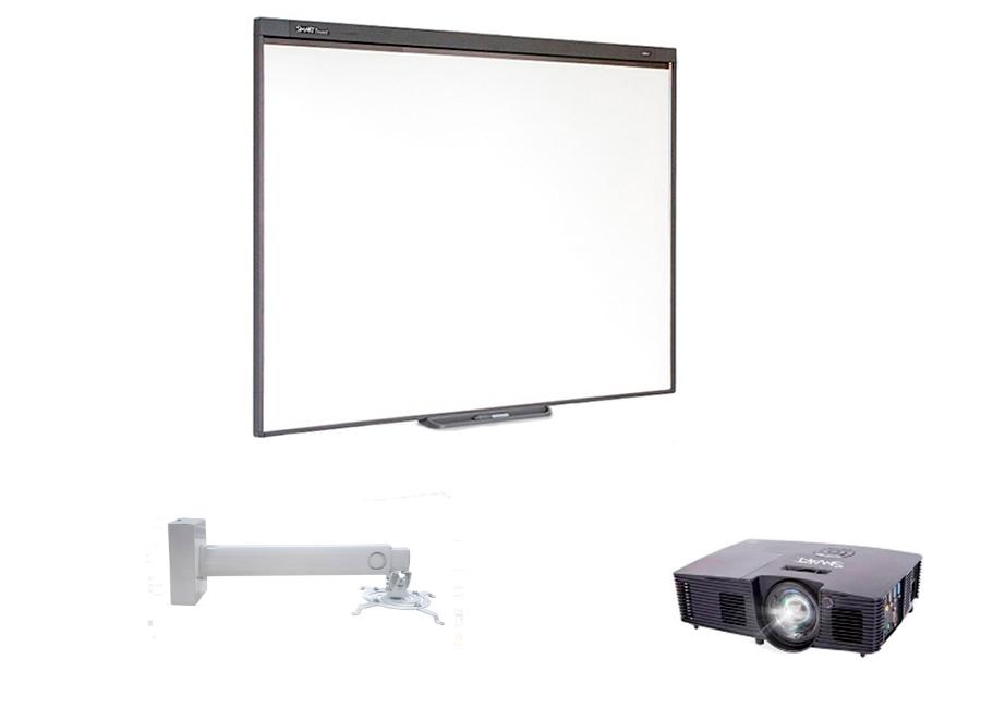 Комплект SBM787v13w в составе: интерактивная доска SBM787V с пассивным лотком, мультимедийный проектор V13, настенно-потолочное крепление Digis DSM-14Kw