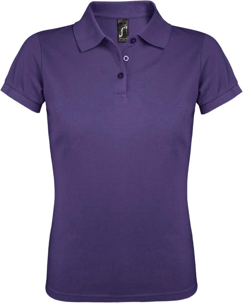 Рубашка поло женская PRIME WOMEN 200 темно-фиолетовая, размер S фото