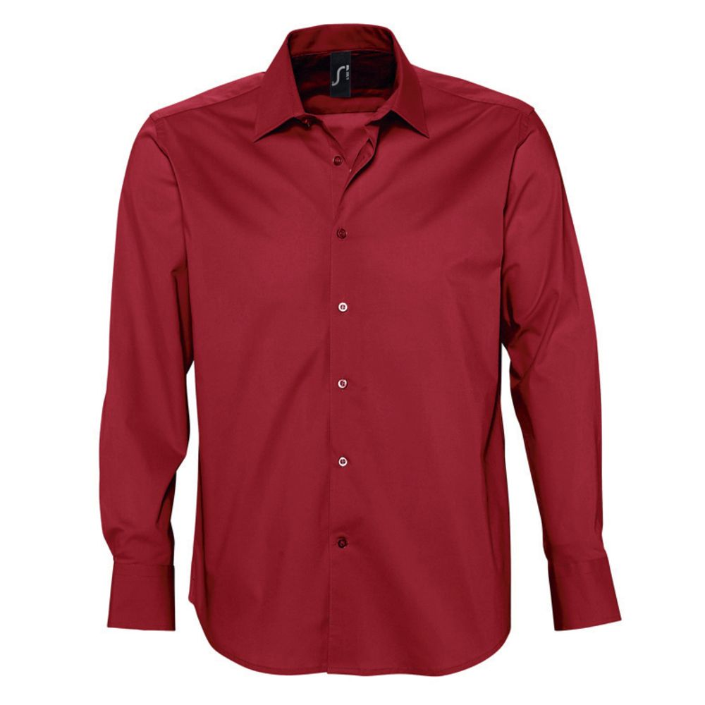 Рубашка мужская с длинным рукавом Brighton красная, размер M