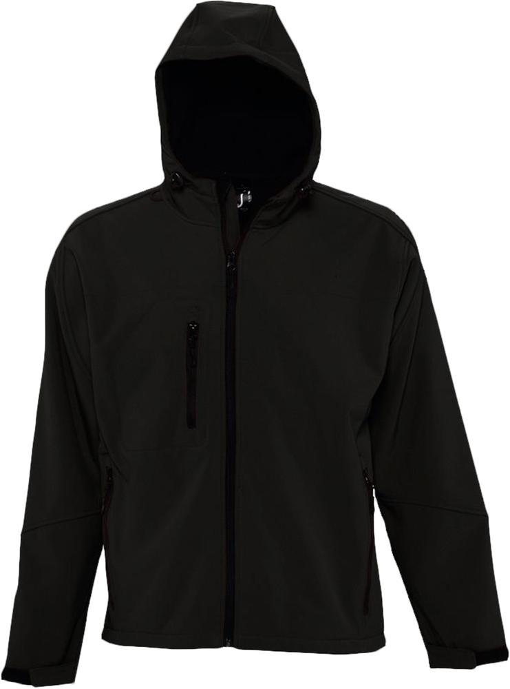 Куртка мужская с капюшоном Replay Men 340 черная, размер 3XL