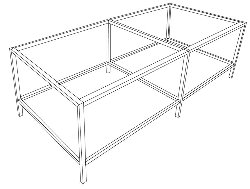 Фото - Стол Cutting Bench 250 для резака KeenCut Javelin Integra (2.1 м) лезвия medium duty для держателя vabhml к резакам keencut javelin integra evolution 2 steeltrak 100 шт
