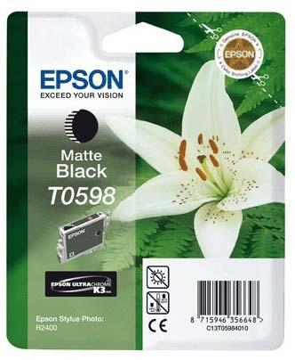 Фото - Картридж с черными матовыми чернилами T0598 (C13T05984010) картридж с черными фото чернилами t0961 c13t09614010