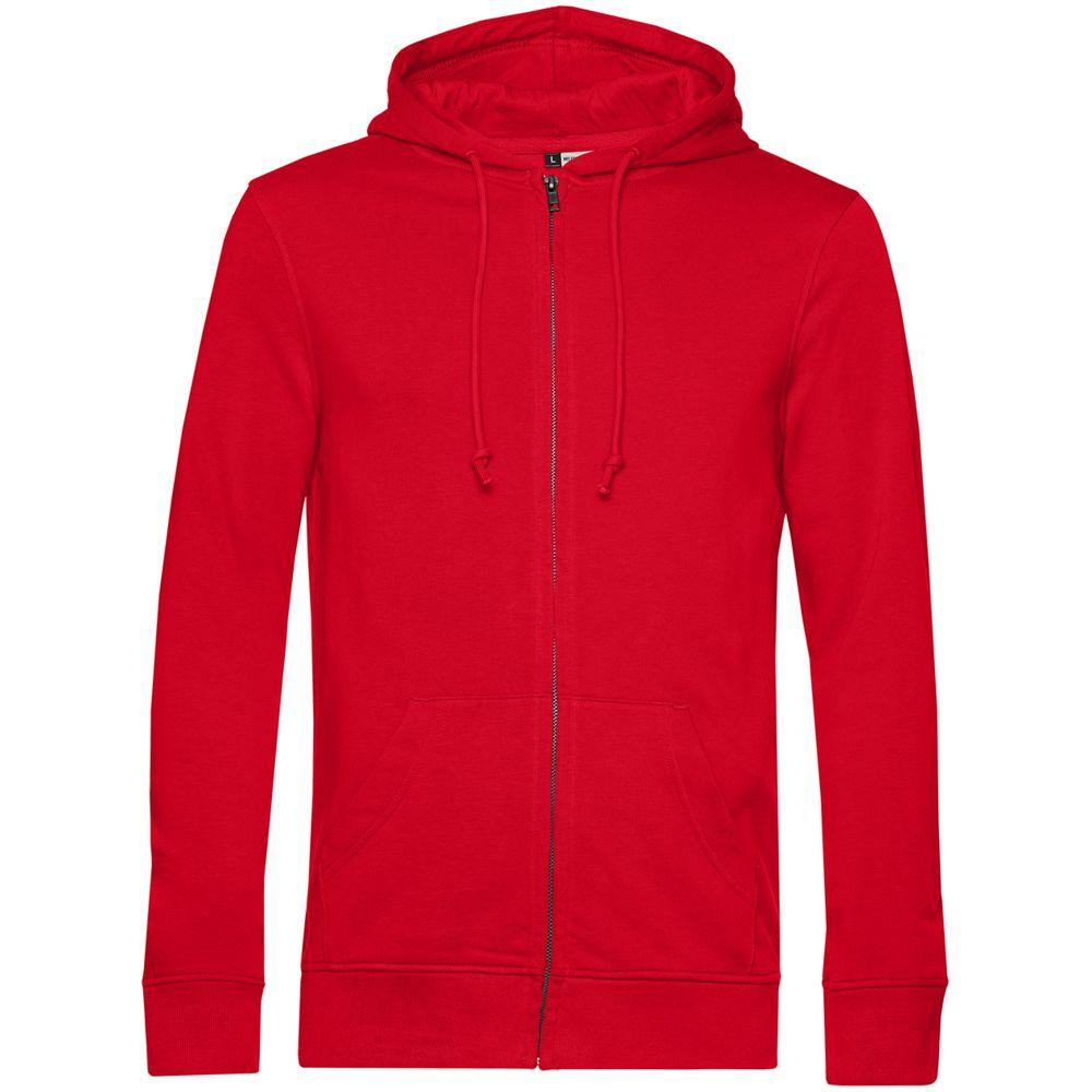 Толстовка на молнии с капюшоном унисекс BNC Organic, красная, размер XL