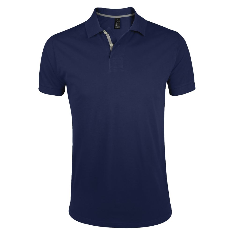 Рубашка поло мужская PORTLAND MEN 200 темно-синяя, размер M рубашка поло мужская portland men 200 темно синяя размер xxl