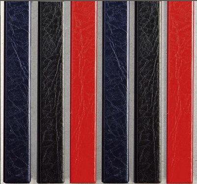 Цветные каналы с покрытием «кожа» O.CHANNEL Mundial А4 304 мм 16 мм, красные