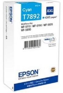 Картридж с голубыми чернилами Epson T7562 для WF-8090, 8590 (C13T756240) картридж epson c13t755340 для epson wf 8090 8590 пурпурный