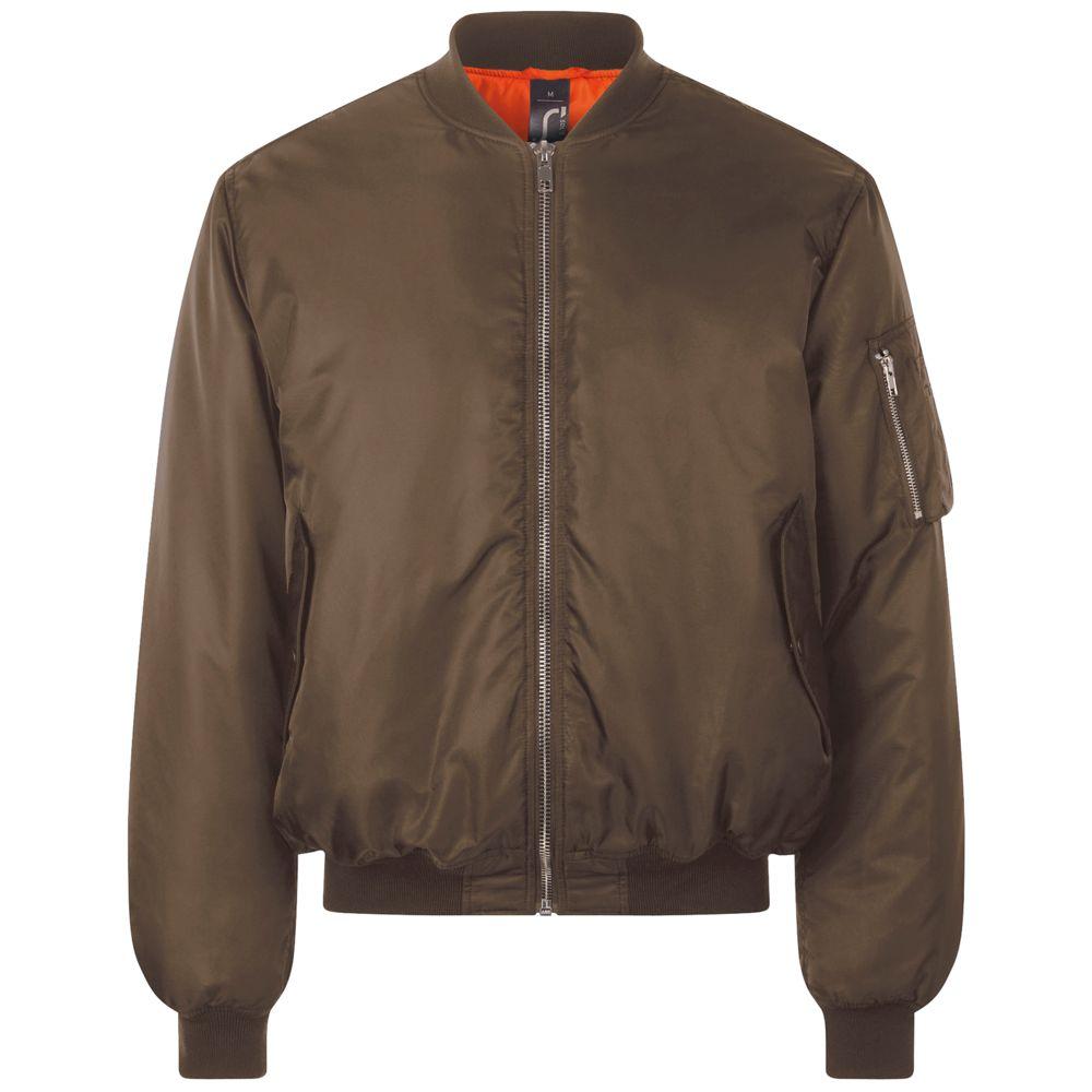 Куртка бомбер унисекс REMINGTON коричневая, размер M фото