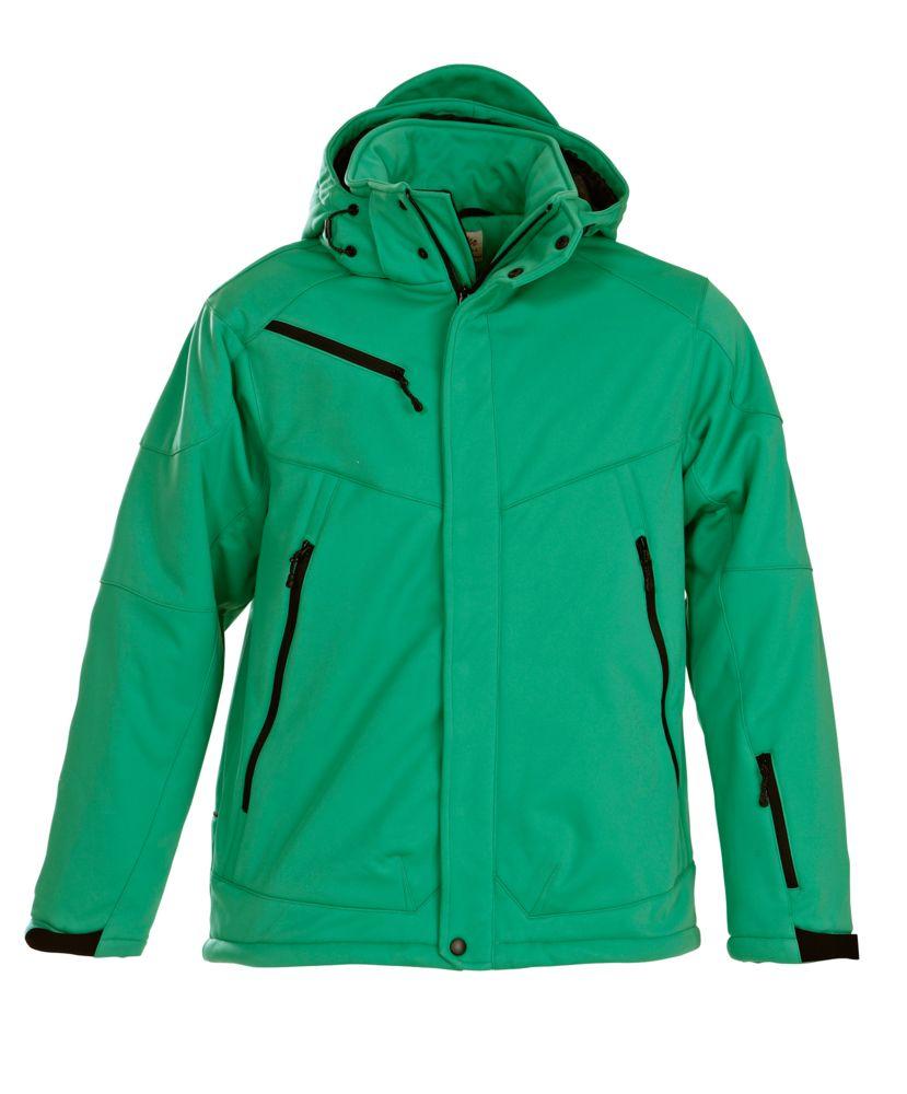Куртка софтшелл мужская Skeleton зеленая, размер XL