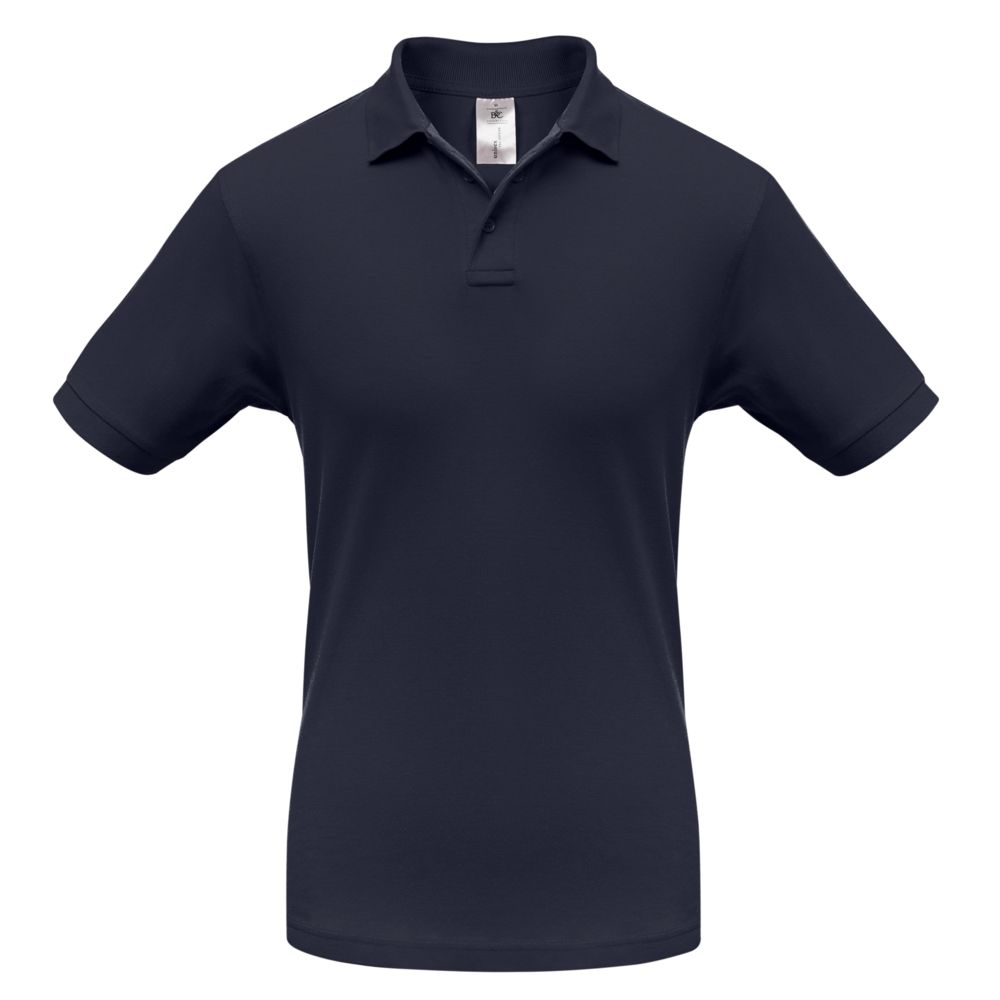 Рубашка поло Safran темно-синяя, размер L рубашка поло safran темно синяя размер xxl