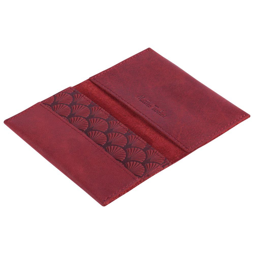 Футляр для визиток Letizia, бордовый