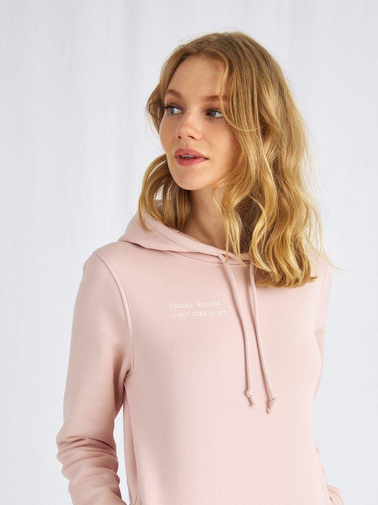 Худи с вышивкой женское «Крошка», розовое, размер M
