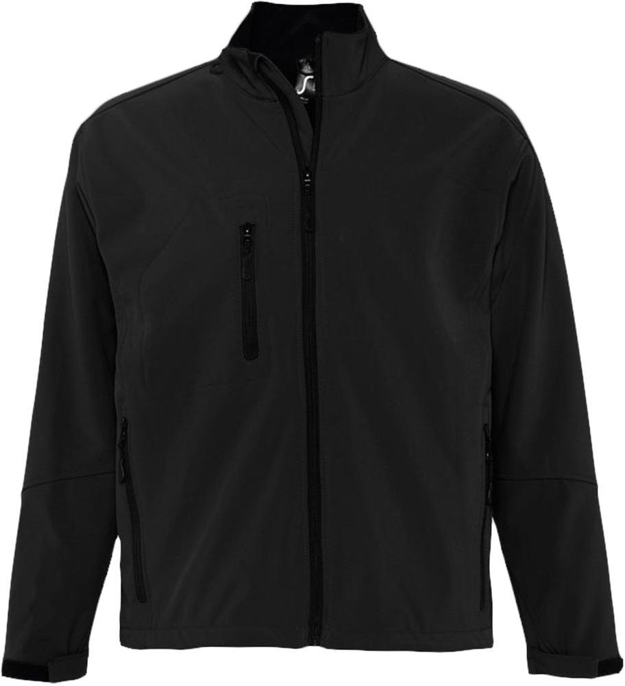 Куртка мужская на молнии RELAX 340 черная, размер XXL фото