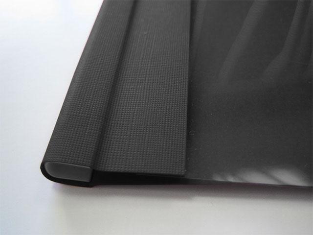 Мягкие обложки C-BIND A4 O.SOFTCLEAR C (16 мм) с текстурой лен, черные фото