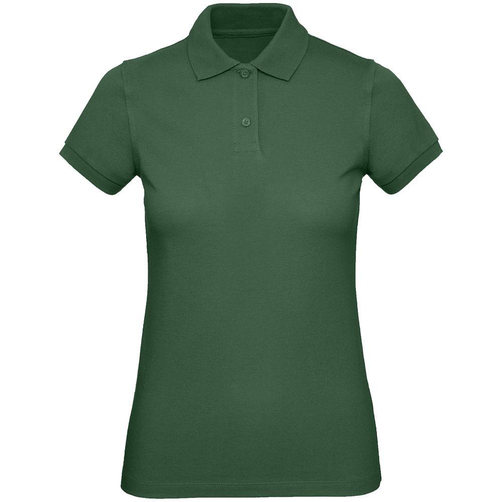 Рубашка поло женская Inspire темно-зеленая, размер XL фото
