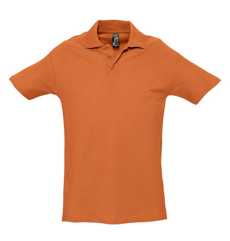 Рубашка поло мужская SPRING 210 оранжевая, размер S