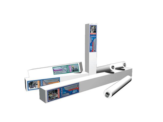 Рулонный самоклеящийся винил Lomond XL Vinyl White Self-Adhesive Film 250 мкм, 1.067x20 м, 50.8 мм (1208013)