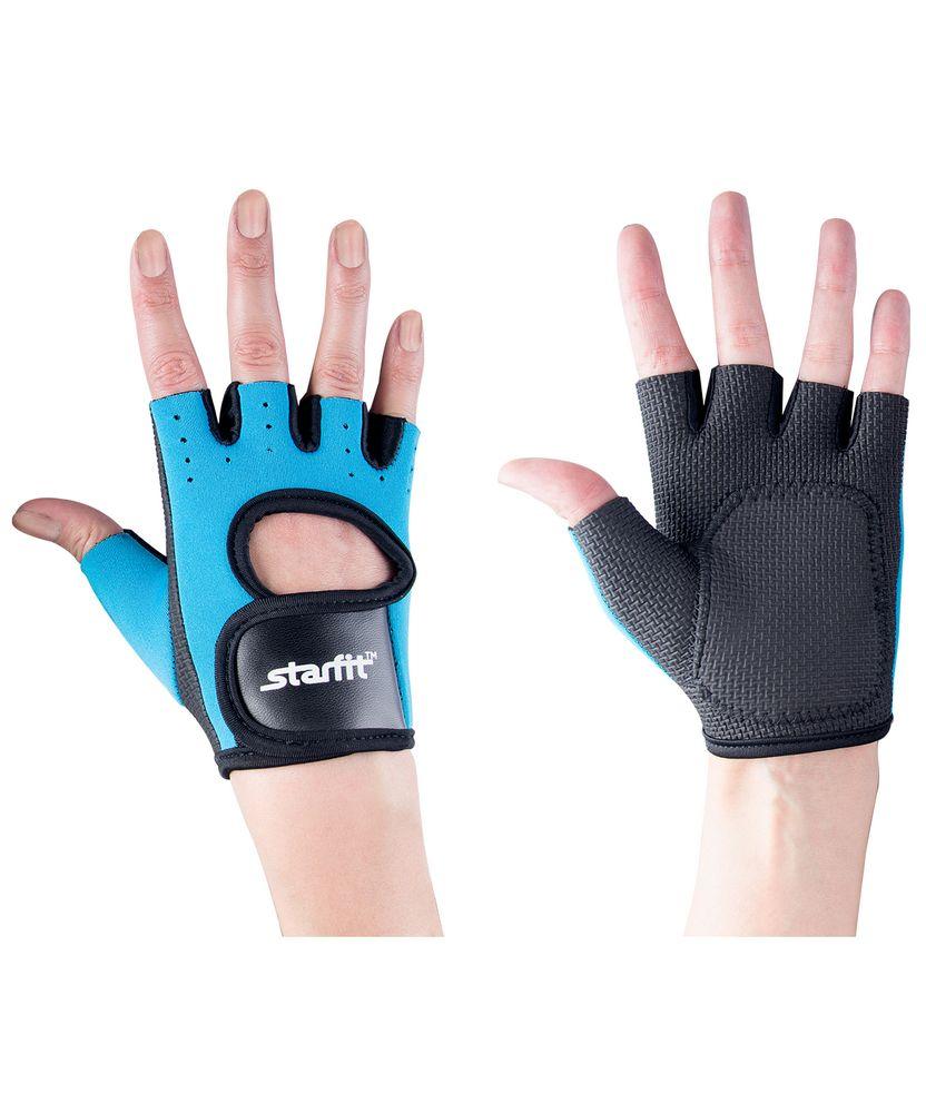 Перчатки для фитнеса Blister Off, черные с бирюзовым, размер L