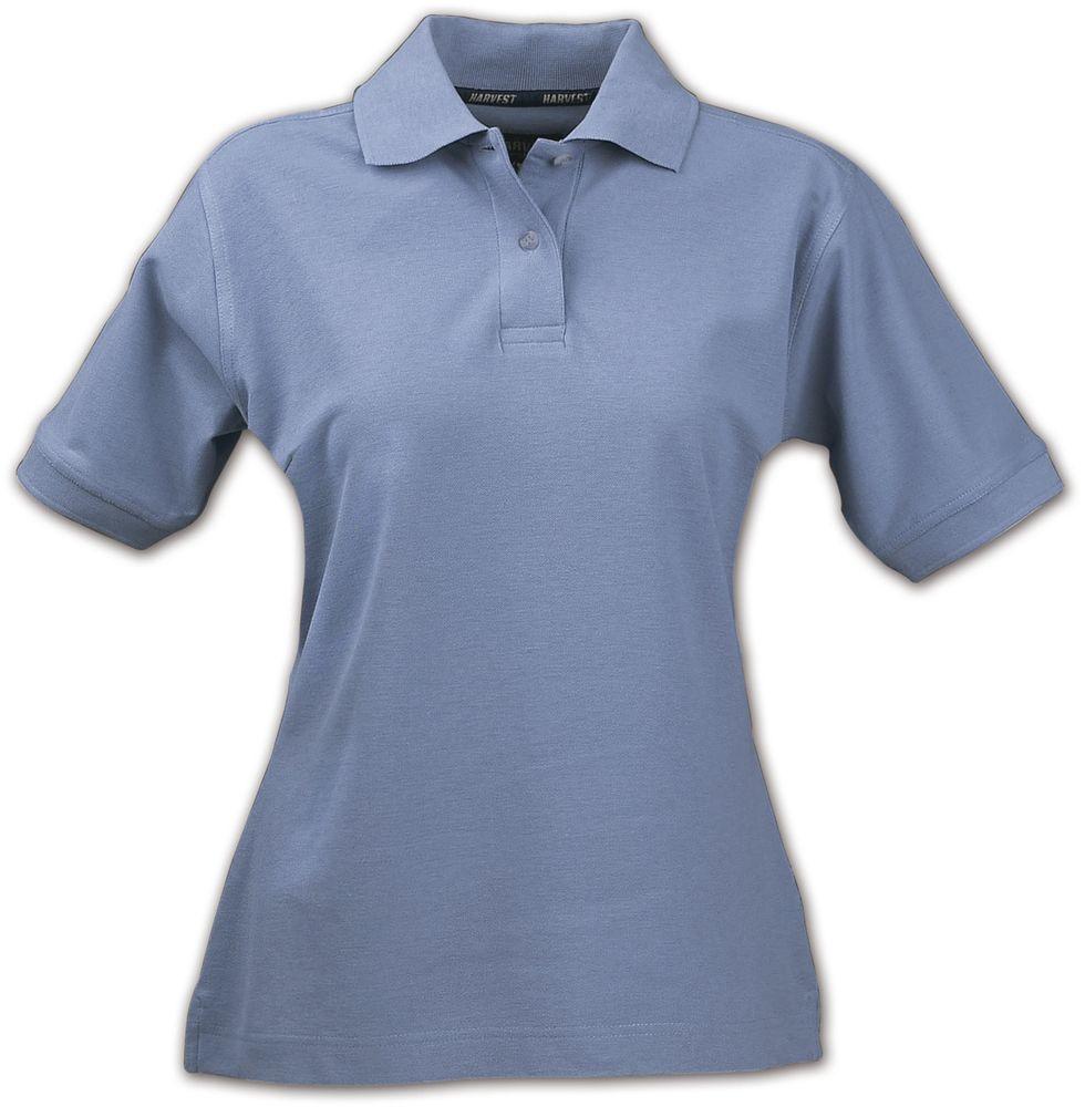 Рубашка поло женская SEMORA, голубая, размер L